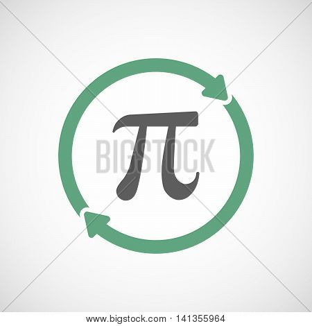 Isolated Reuse Icon With The Number Pi Symbol
