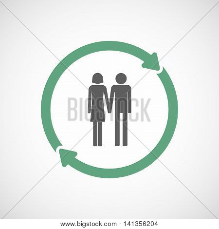 Isolated Reuse Icon With A Heterosexual Couple Pictogram
