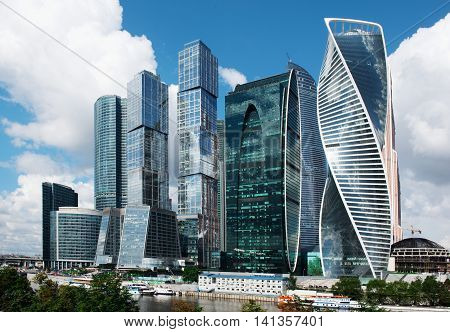 Moscow - August 04, 2016: Moscow-city. Moscow International Business Center
