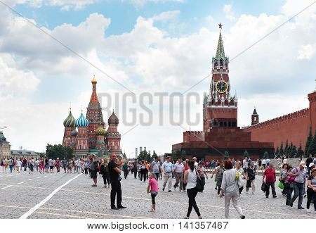 Moscow - August 04, 2016: Cathedral Of St. Basil At The Red Square In Moscow