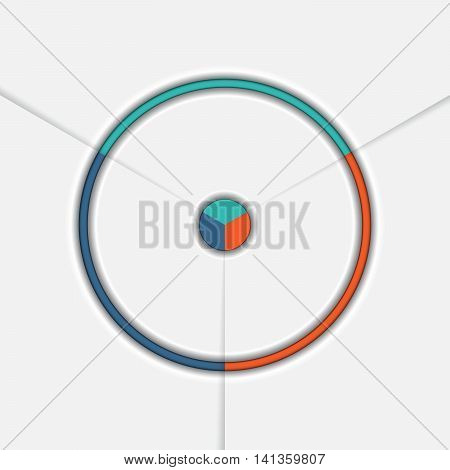 Template Infographic Three position Area chart Ring chart Pie chart