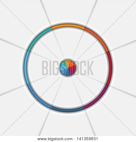 Template Infographic eight position Area chart Ring chart Pie chart