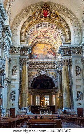 Metropolitan Cathedral Di San Pietro Of Bologna. Emilia-romagna, Italy.