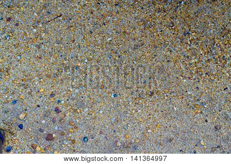 Wet Coarse sand texture abstract background .