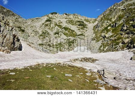 Amazing view to right kralevedvorska gate,  Pirin Mountain, Bulgaria
