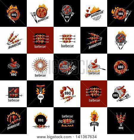 logo design templates for a barbecue. Vector illustration