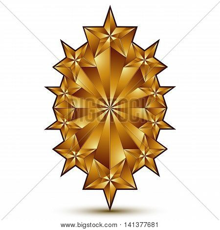 Glamorous vector template with pentagonal golden star symbol best for use in web and graphic design.