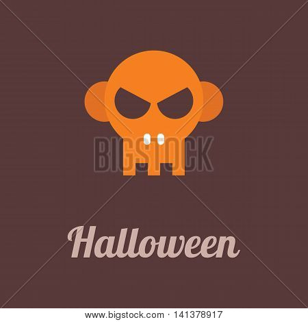 Halloween vector icon isolated on a dark background.