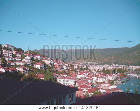 View of Ohrid Old Town in Macedonia