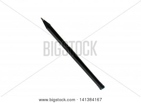 Pencil iblack filing solated on white background