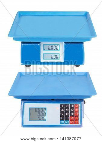 electronic scales isolated on a white background