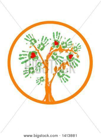 Love Greenpeace Tree.Logo