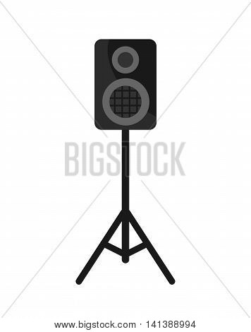 Acoustic Speakers Box on white background. Vector icon.