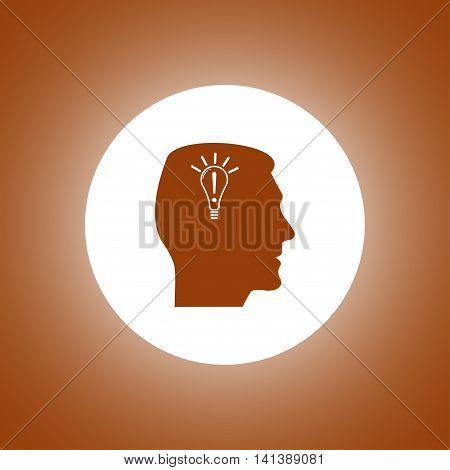 Pictograph Of Gear In Head. Creative Idea.