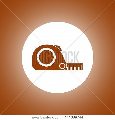 Tape Measure Icon. Roulette Construction Simbol