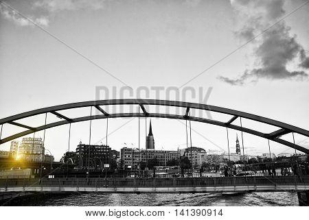 Hamburg and its Bridges Look at the bridge in Hamburg