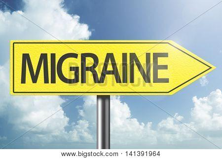Migraine yellow sign