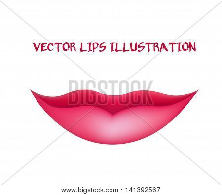 Smiling Lips. Woman's Mouth. Vector Illustration eps 10