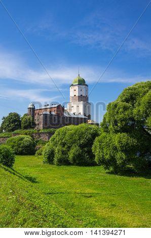 Old Swedish castle in Vyborg Leningrad region Russia