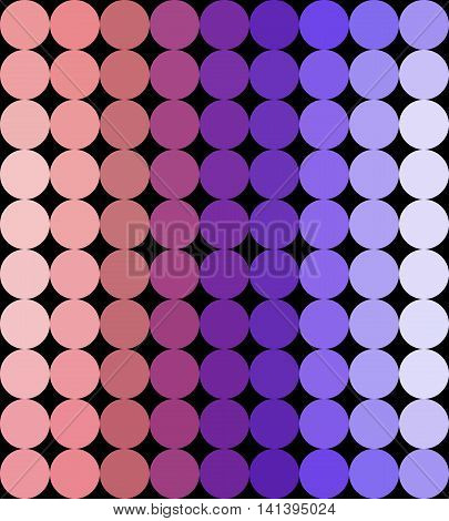 Crazy colorful background made by many circles