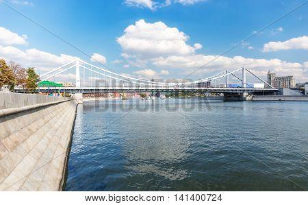 Krymsky Bridge Across Moskva River.