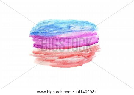 colorful of watercolor texture on white paper background