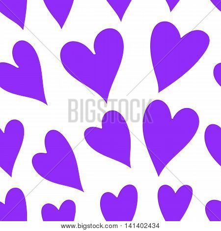 Vector Valentines Day Pattern With Hearts