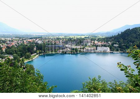Landscape of Bled lake in Slovenia - Europe.