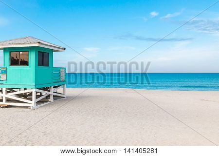 Lifeguard Tower in Venice Beach Florida at early morning