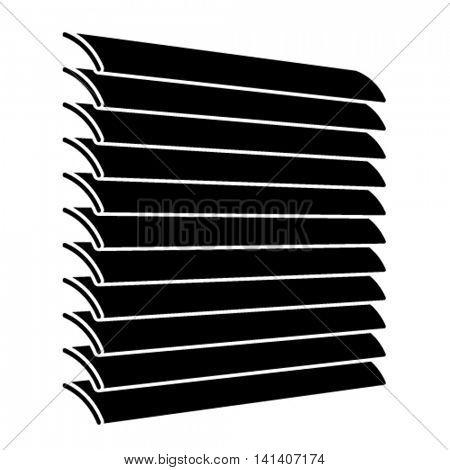 venetian blinds black symbol vector
