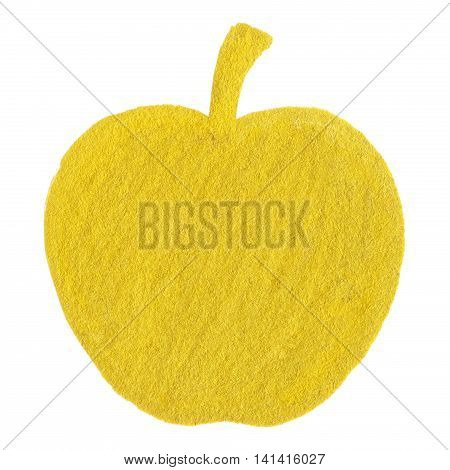 Golden yellow velvet apple fruit symbol isolated