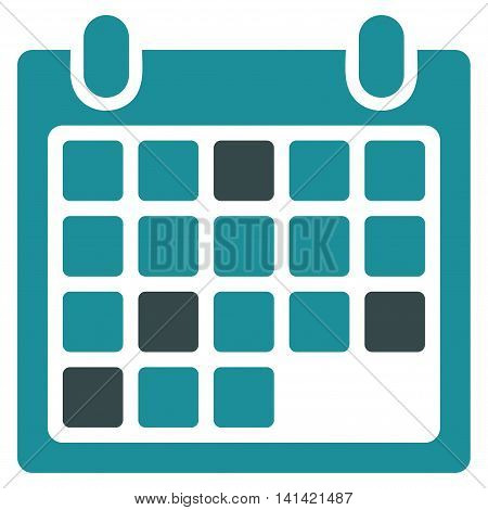 Calendar Appointment vector icon. Style is bicolor flat symbol, soft blue colors, rounded angles, white background.