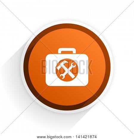 toolkit flat icon with shadow on white background, orange modern design web element