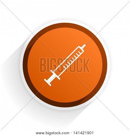 medicine flat icon with shadow on white background, orange modern design web element