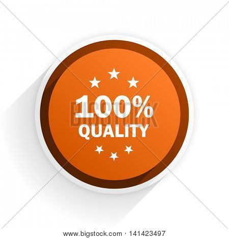 quality flat icon with shadow on white background, orange modern design web element