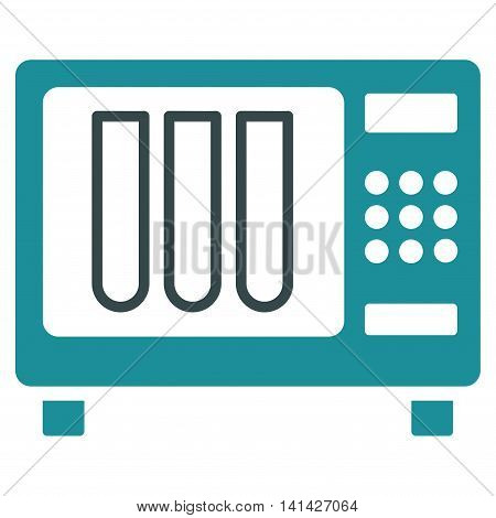 Sterilizer vector icon. Style is bicolor flat symbol, soft blue colors, rounded angles, white background.