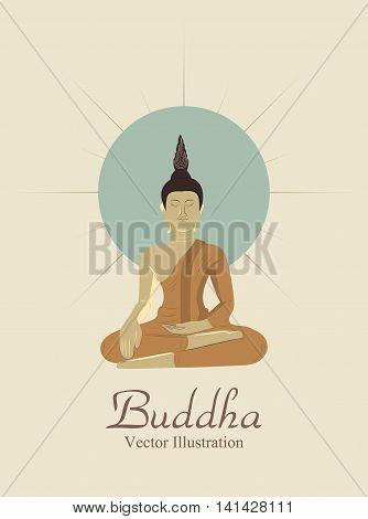 Buddha Illustration, Vector, Buddha statue, Color, Design