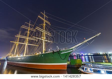 Ship Rickmer Rickmers In Hamburg