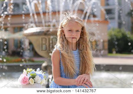 cute little girl in park