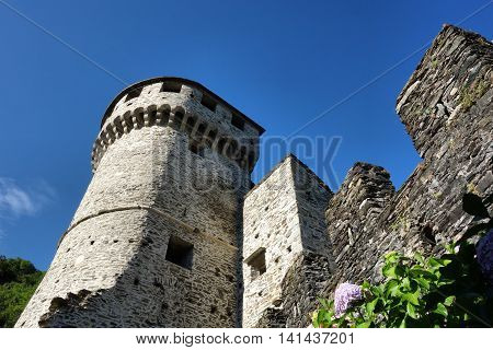 the Visconteo castle in Vogogna Piedmont Italy