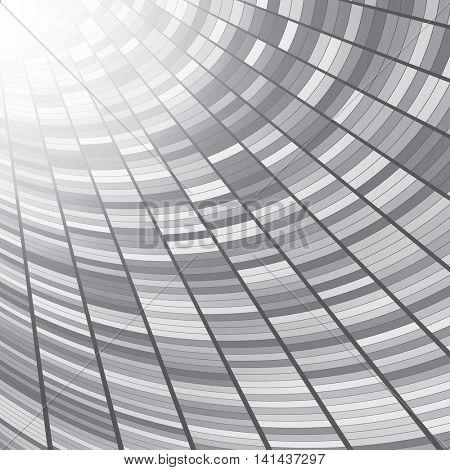 Abstract perspective tunnel background. Gray rectangles.