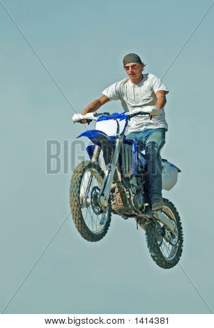 Motorcycle In Air