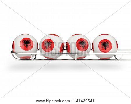Flag Of Albania On Lottery Balls