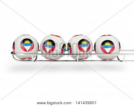 Flag Of Antigua And Barbuda On Lottery Balls