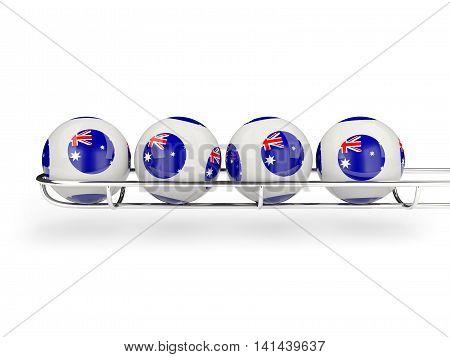 Flag Of Australia On Lottery Balls