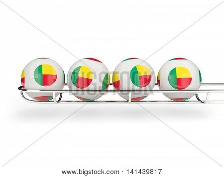 Flag Of Benin On Lottery Balls
