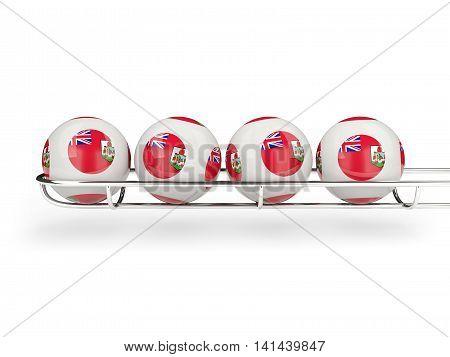 Flag Of Bermuda On Lottery Balls