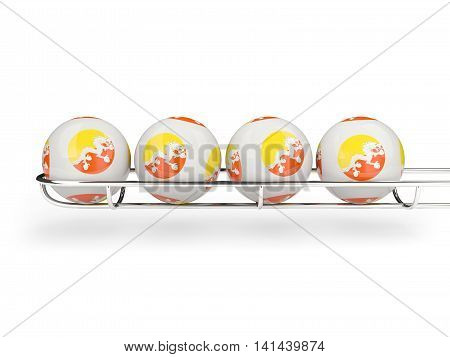 Flag Of Bhutan On Lottery Balls