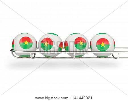 Flag Of Burkina Faso On Lottery Balls