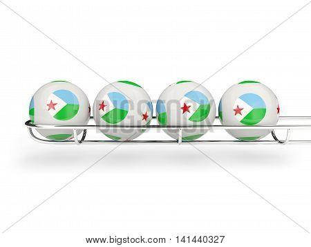 Flag Of Djibouti On Lottery Balls